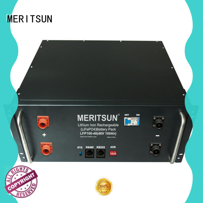 MERITSUN storage battery systems factory direct supply for base transceiver station
