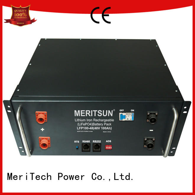 MERITSUN long lasting home energy storage factory direct supply for base transceiver station