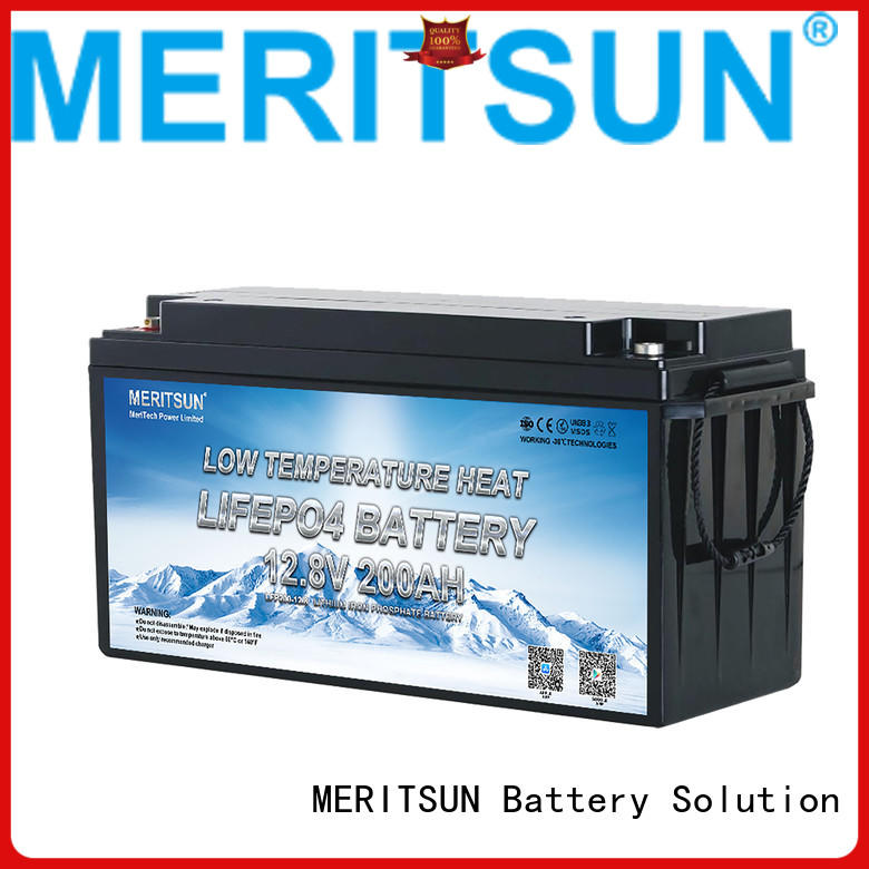 MERITSUN wholesale low temperature lithium battery for business for streetlight