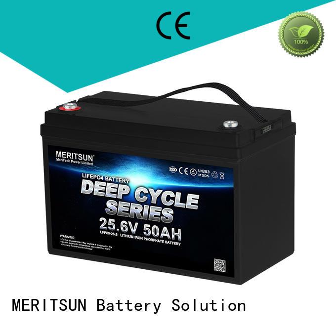 MERITSUN app bluetooth control lithium batteries for sale supplier for villa