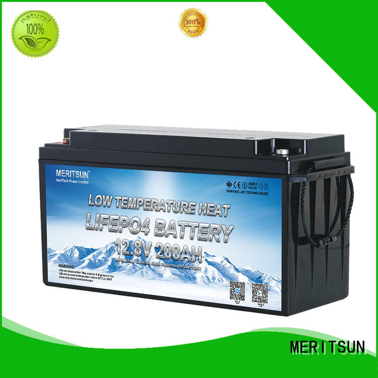 MERITSUN low temperature lithium battery company for streetlight