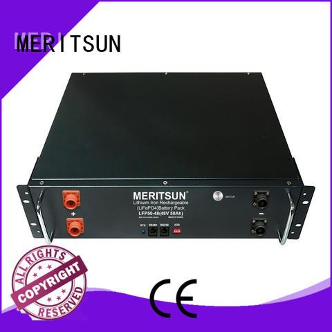 MERITSUN lifepo4 lithium storage battery systems customized for residential