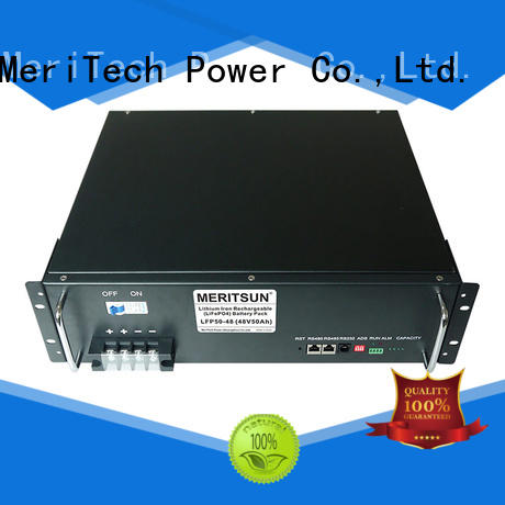 MERITSUN easy to install storage battery supplier for base transceiver station