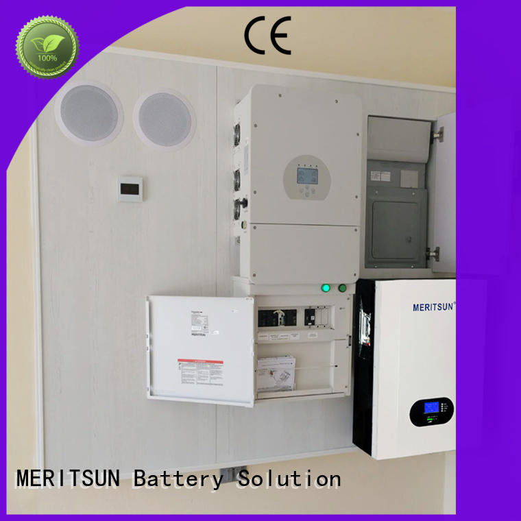 MERITSUN durable powerwall battery customized for buildings
