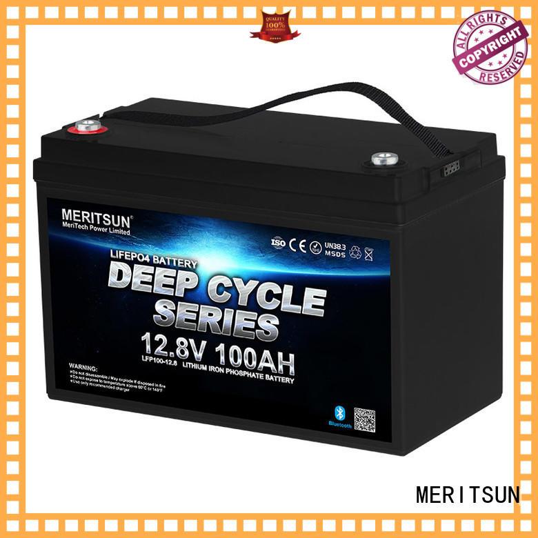 MERITSUN long cycle life lifepo4 battery 12v supplier for villa