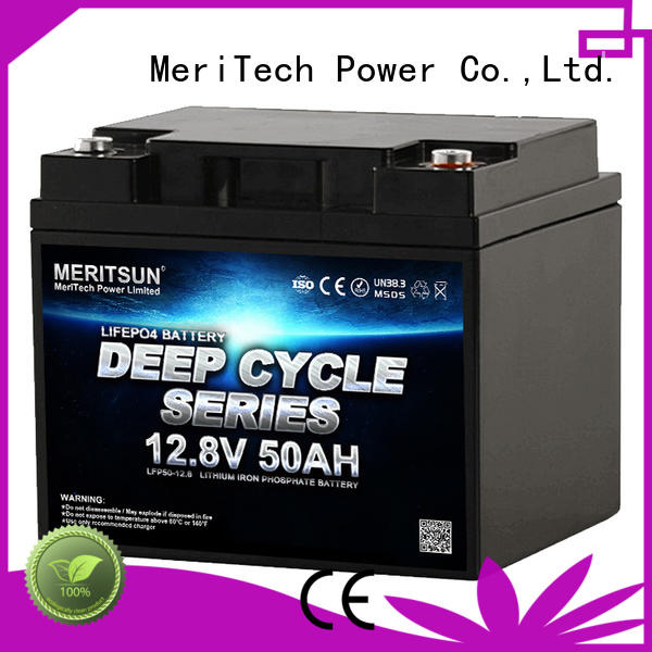 MERITSUN rechargeable lifepo4 battery pack series for building