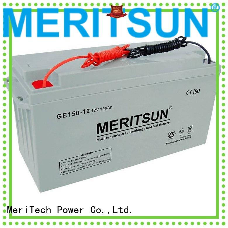 MERITSUN Brand front flooded deep opzv battery