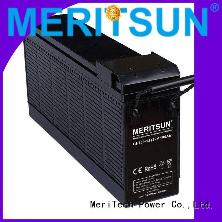 MERITSUN Brand gel deep cycle vrla opzv battery