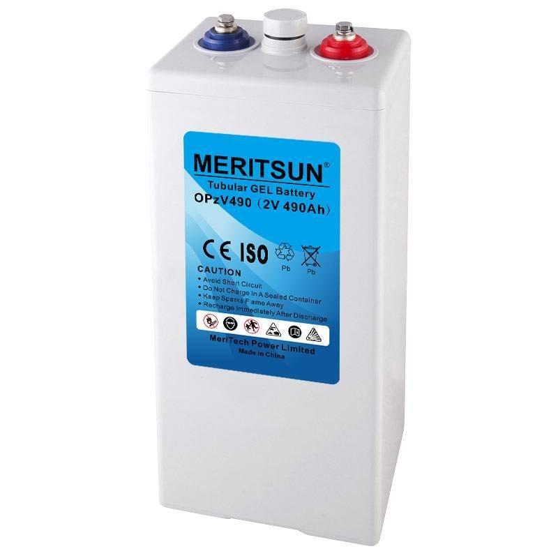 MERITSUN Brand front terminal vrla gel battery telecom opzs