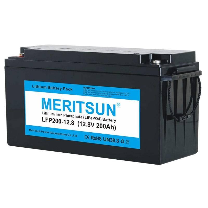 MERITSUN 12V 200Ah LiFePO4 Lipo Li-ion Lithium ion Battery 12V / 24V LiFePO4 Battery image1