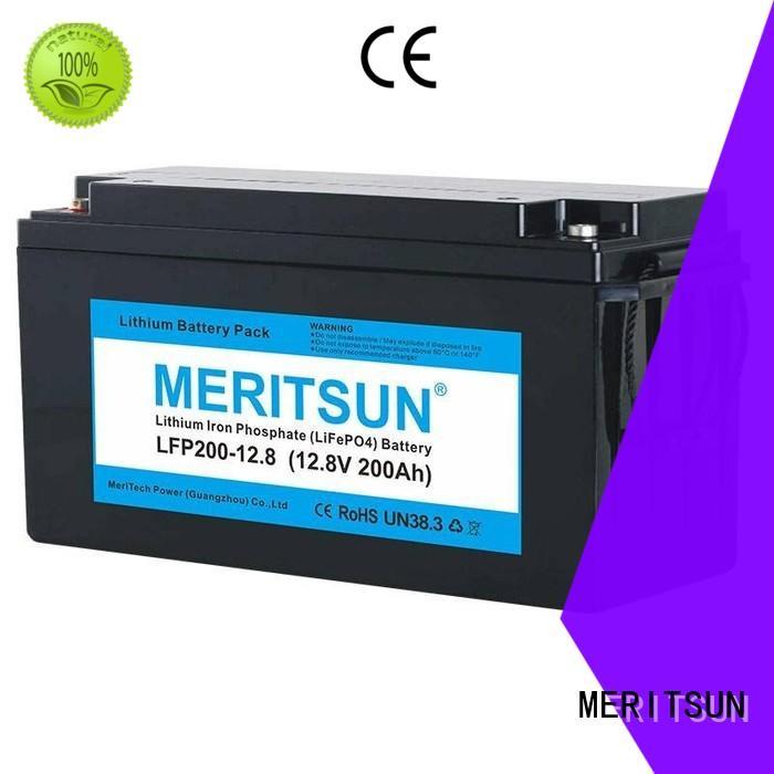 lifepo4 battery 12v 200ah solar for home use MERITSUN
