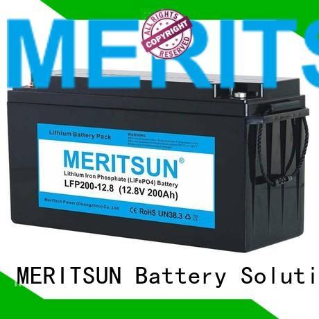 Custom 200ah ion lifepo4 battery MERITSUN solar