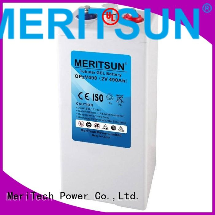 vrla tubular deep MERITSUN Brand vrla gel battery factory