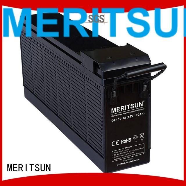 tubular deep MERITSUN Brand vrla gel battery factory