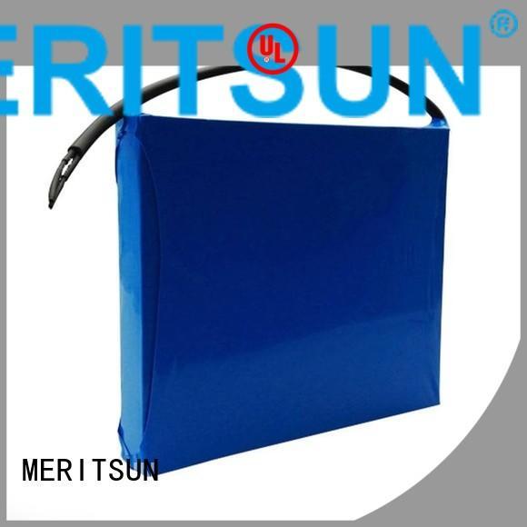 integrated battery solar street light lithium battery cycle MERITSUN Brand company