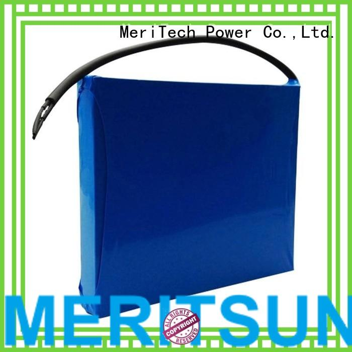 all integrated liion MERITSUN Brand lithium ion battery for solar street light manufacture