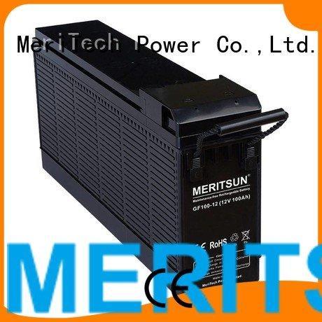 MERITSUN Brand front tubular opzv battery telecom gel