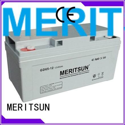 front vrla gel battery flooded MERITSUN company