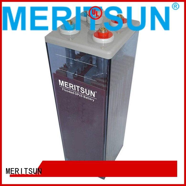 deep flooded front battery MERITSUN Brand opzv battery supplier