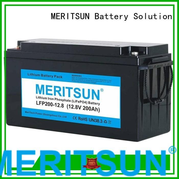lifepo4 battery price bluetooth phosphate lipo MERITSUN Brand lifepo4 battery