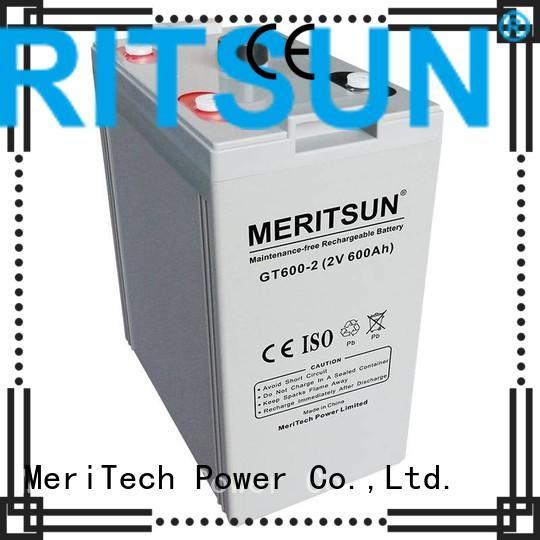 Quality MERITSUN Brand vrla gel battery front