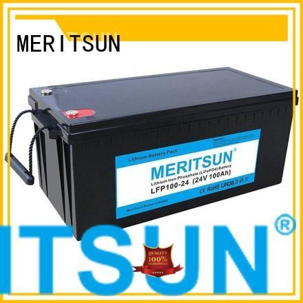 Wholesale ion lifepo4 battery price 24v MERITSUN Brand