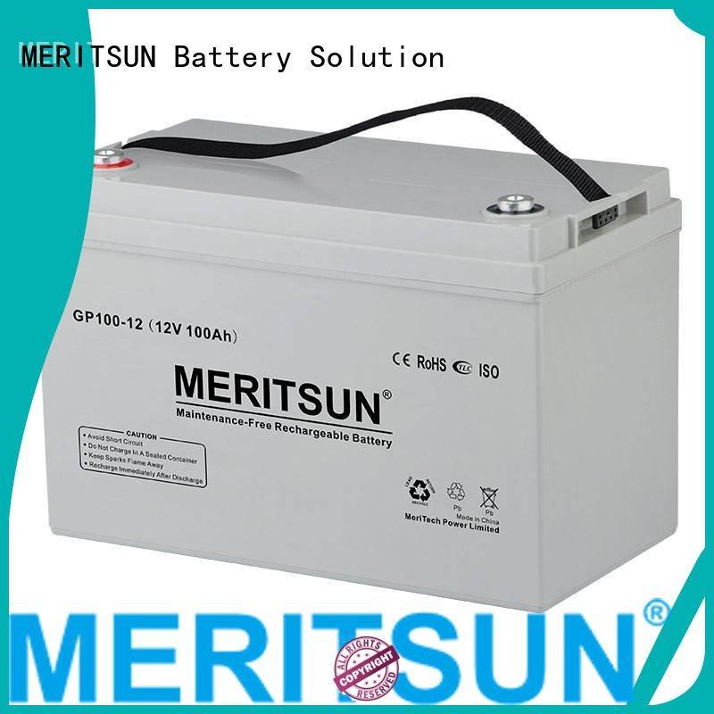 opzv terminal vrla MERITSUN Brand vrla gel battery manufacture