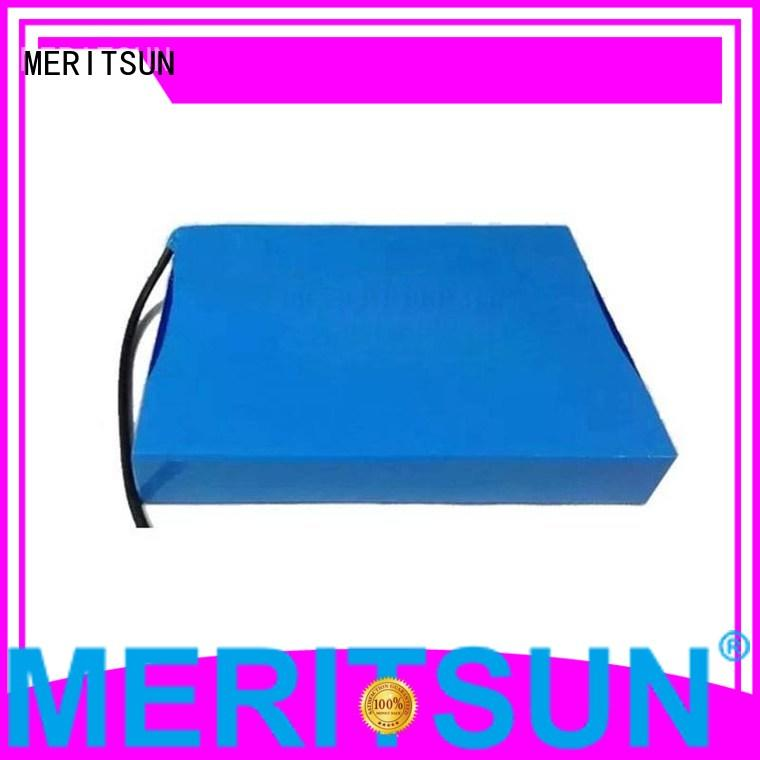 integrated solar lithium ion battery for solar street light MERITSUN manufacture