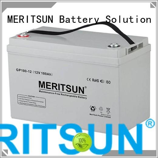 MERITSUN Brand tubular opzv vrla gel battery
