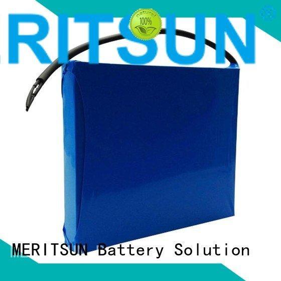 MERITSUN lipo 12v solar street light lithium battery light battery