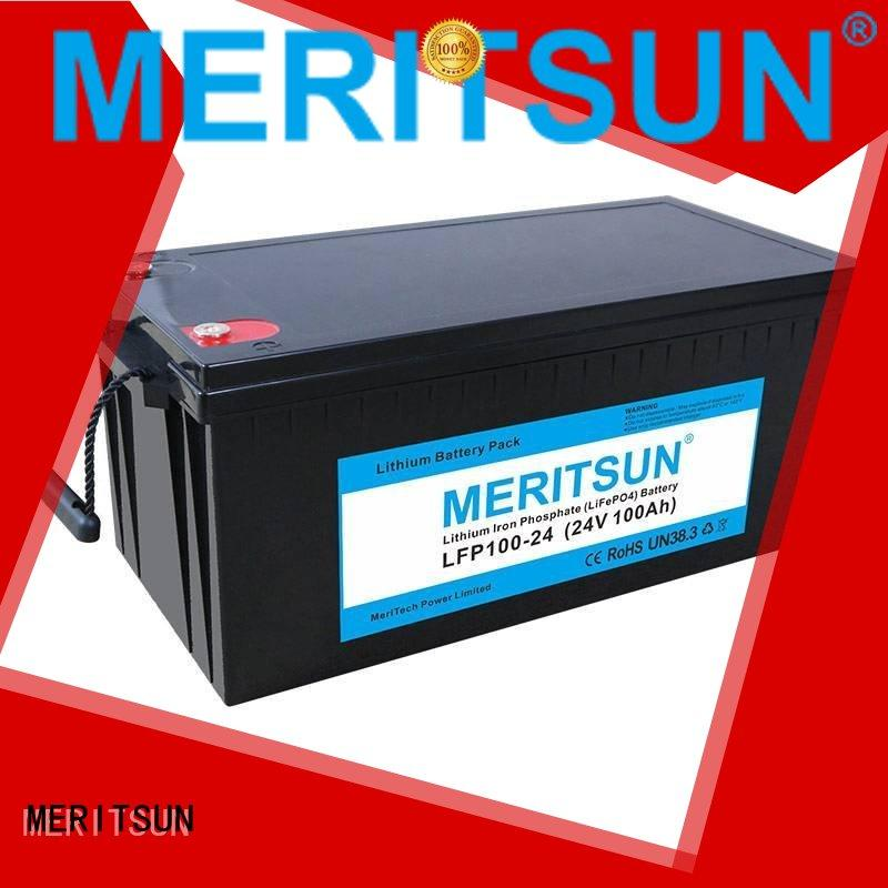 MERITSUN Brand cycle battery lifepo4 battery control factory