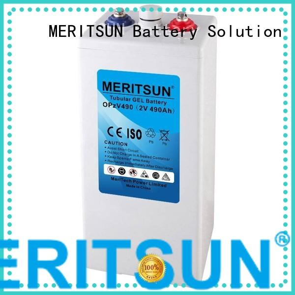 Quality MERITSUN Brand terminal cycle opzv battery