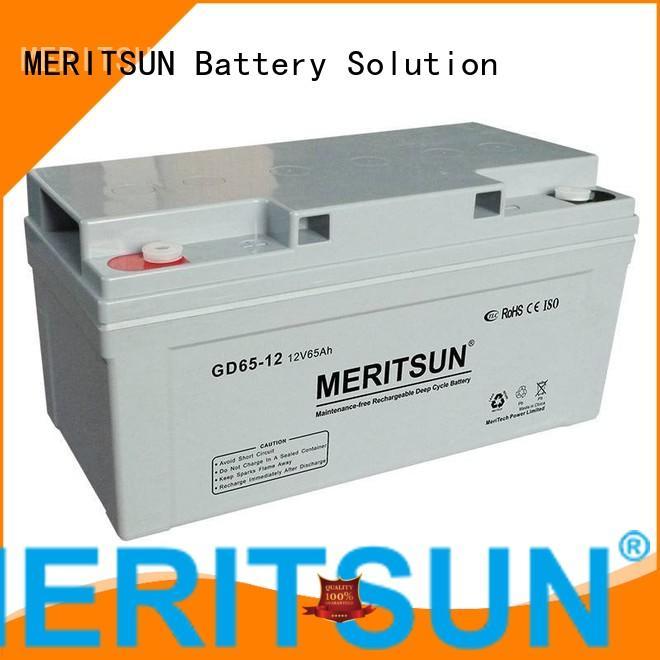 opzv vrla MERITSUN Brand vrla gel battery factory