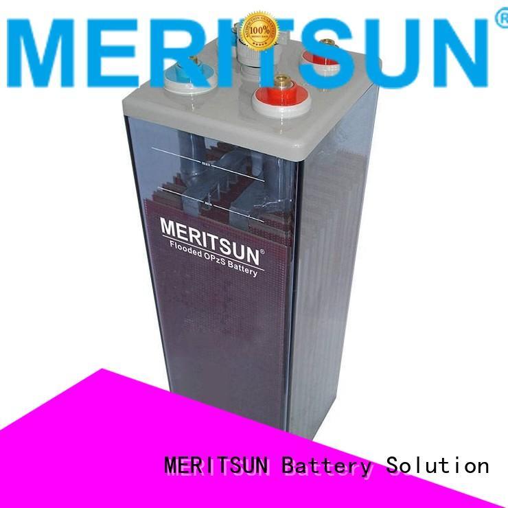 deep battery cycle MERITSUN Brand opzv battery supplier