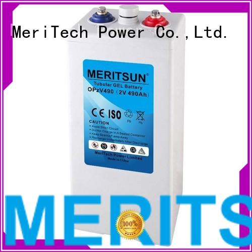 vrla gel battery vrla deep terminal MERITSUN Brand company