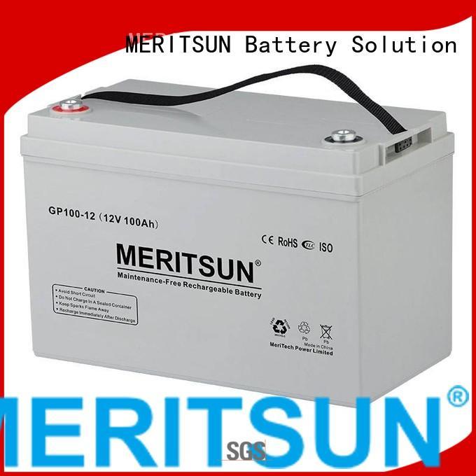 vrla gel battery terminal tubular MERITSUN Brand company