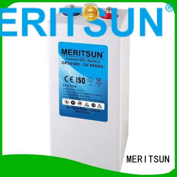 vrla gel battery vrla deep front MERITSUN Brand opzv battery