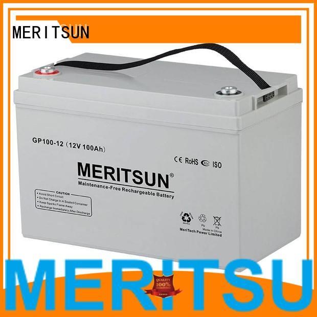 Custom gel vrla opzv battery MERITSUN cycle