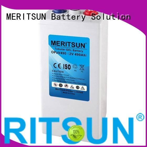 MERITSUN Brand gel vrla gel battery tubular supplier