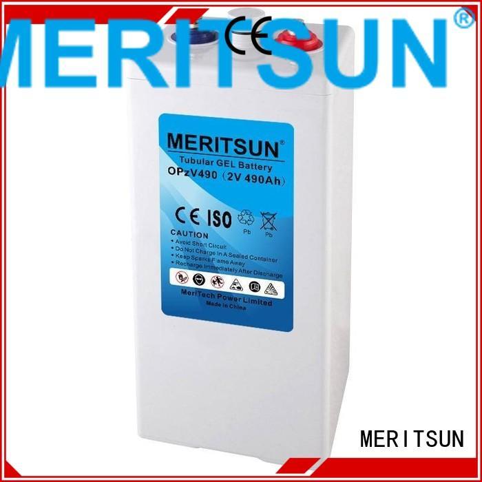 Hot deep vrla gel battery flooded MERITSUN Brand