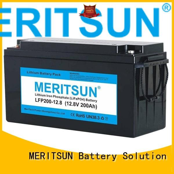 Custom lcd pack lifepo4 battery MERITSUN 2000