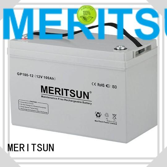 Hot opzs vrla gel battery cycle MERITSUN Brand