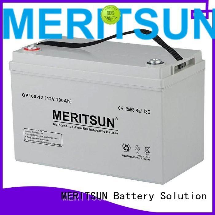 MERITSUN vrla gel battery deep battery front cycle
