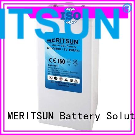 Custom flooded front opzv battery MERITSUN battery