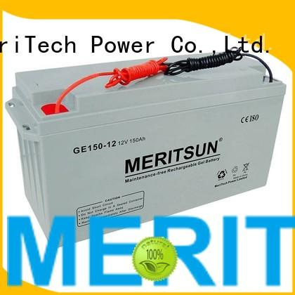 vrla gel battery cycle tubular flooded MERITSUN Brand opzv battery