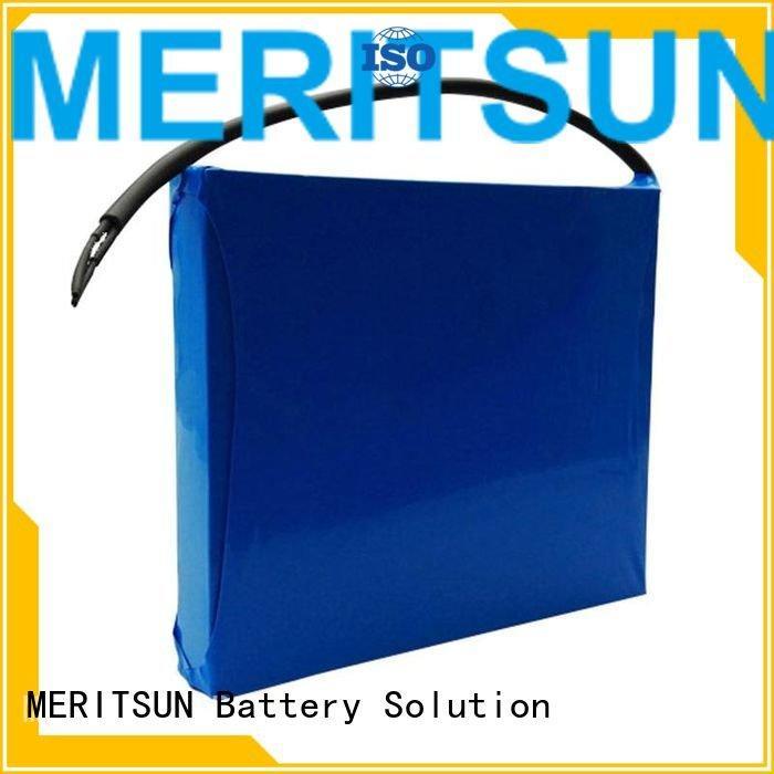 integrated solar street light lithium battery MERITSUN lithium ion battery for solar street light