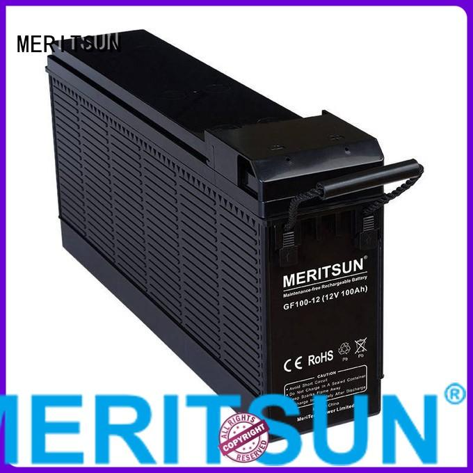 MERITSUN Brand flooded vrla opzv battery manufacture