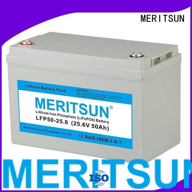 ion lifepo4 battery price 12v MERITSUN company