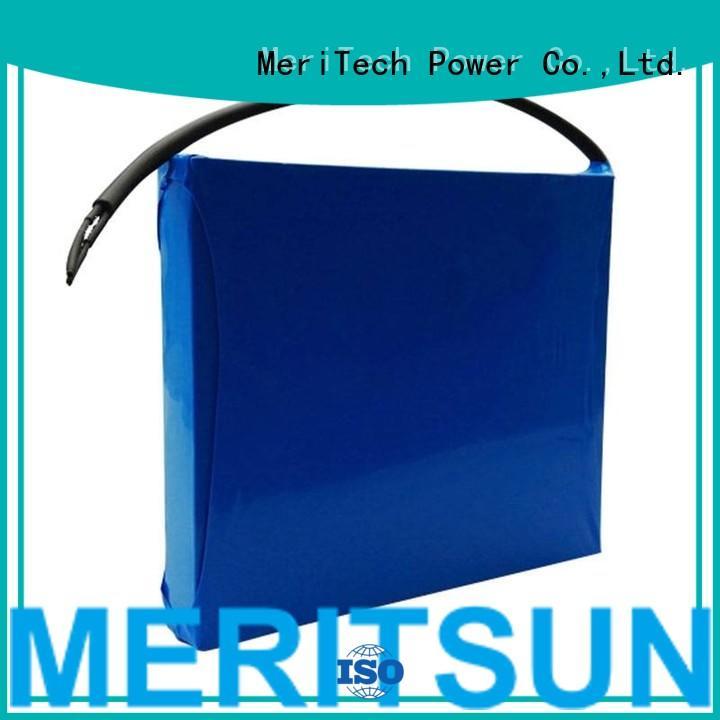 rechargeable integrated 30ah solar street light lithium battery MERITSUN Brand company