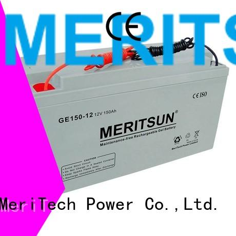 MERITSUN Brand gel flooded opzv battery terminal factory